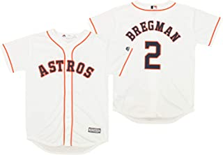 Outerstuff Houston Astros Alex Bregman #2 MLB Big Boys Youth (8-20) Cool Base Home Replica Jersey, White