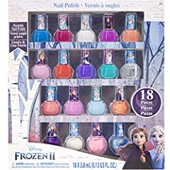 More colors more choices- This set includes 18 nail polish bottles, including glittery colors and opaque colors. Shades include: Pink, yellow, green, orange, sky blue, dark blue, red and more. Get creative by mixing and matching! Safe for children 3 ...
