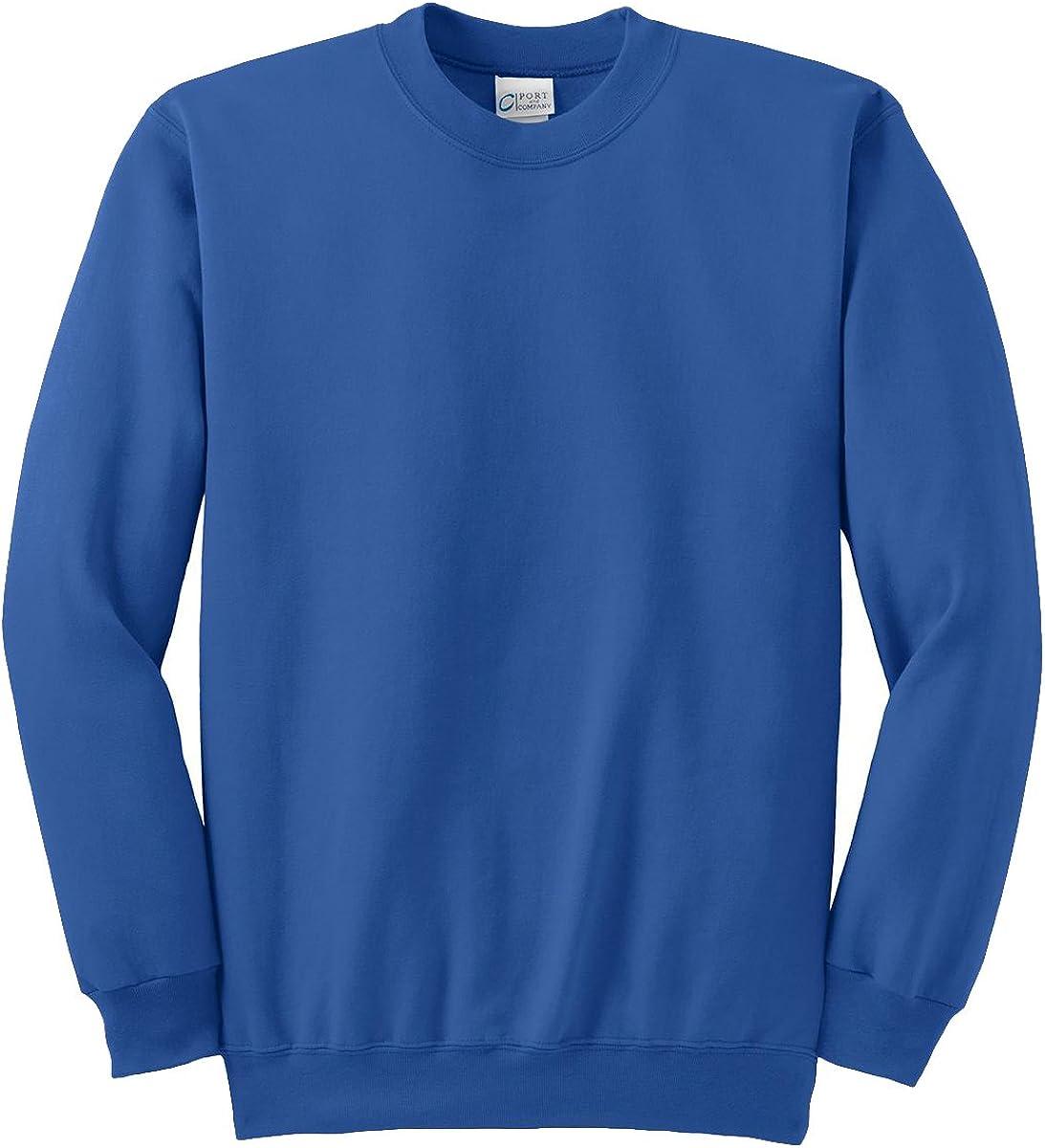 Port & Company Tall Ultimate Crewneck Sweatshirt>4XLT Royal PC90T