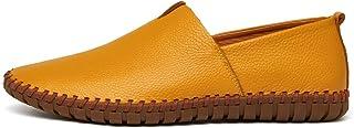 Dream-Cabin - Mocasines de Piel Suave para Hombre, Zapatos de Barco, Talla Grande 38~47
