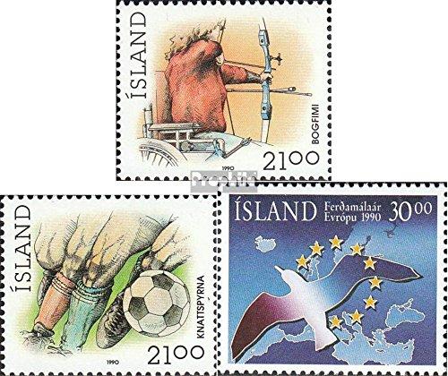 Prophila Collection Islanda 728-729,730 (Completa Edizione) 1990 Sport, Turismo (Francobolli per i Collezionisti) Calcio