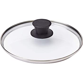 """Glass Lid - 8""""-inch/20.32-cm - Compatible with Lodge - Fully Assembled Tempered Replacement Cover - Oven Safe for Skillets Pot Pans - Universal for all Cookware: Cast Iron, Stainless Steel, Non-Stick"""