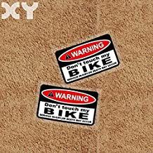 Hitada - Waterproof Reflective Car and Motorcycle Stickers Bumper Warning Sign Car Stickers Vinyl Decals Do Not Touch My Bike
