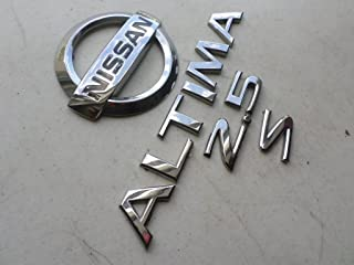 03-05 Nissan Altima 2.5 S Rear Trunk Roundel Badge Abs 3731 Individual Chrome Nameplate