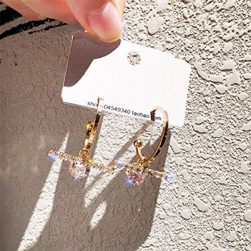 925 aguja de plata super flash crystal zircon aretes pendientes de gama alta temperamento red pendientes de moda roja-R009-31 oro