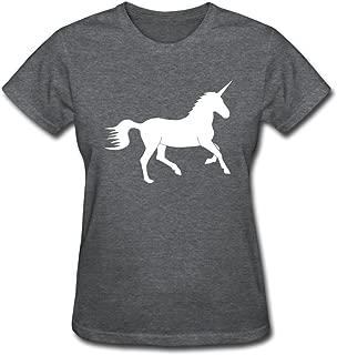 Unicorn Women's Fashion Short Sleeve Tees DeepHeather