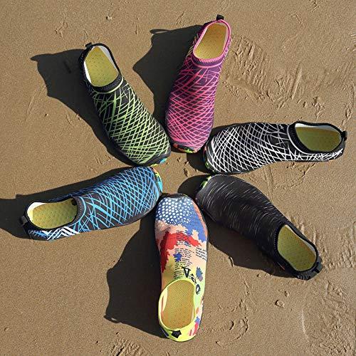 Homens Mulheres Sapatos de Água Esportes Secagem Rápida Com Os Pés Descalços para Natação Mergulho Surf Aqua Piscina Praia Andar Sapatos de Exercício de Yoga