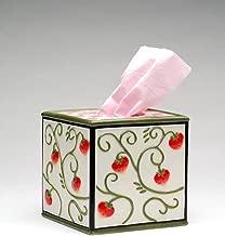 ATD 33719 5.5 Checkered Strawberry Design Tissue Box Holder