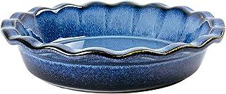 Unicasa - Assiettes à Tarte en Céramique pour la Cuisson - Plat à Tarte Rond de 27,3 cm pour le Dîner - Plat Profond pour ...
