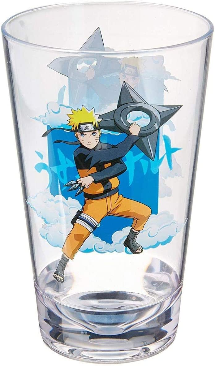 low-pricing JUST FUNKY Naruto Shippuden Pint - Glasse Drinking Glass Max 85% OFF Novelty
