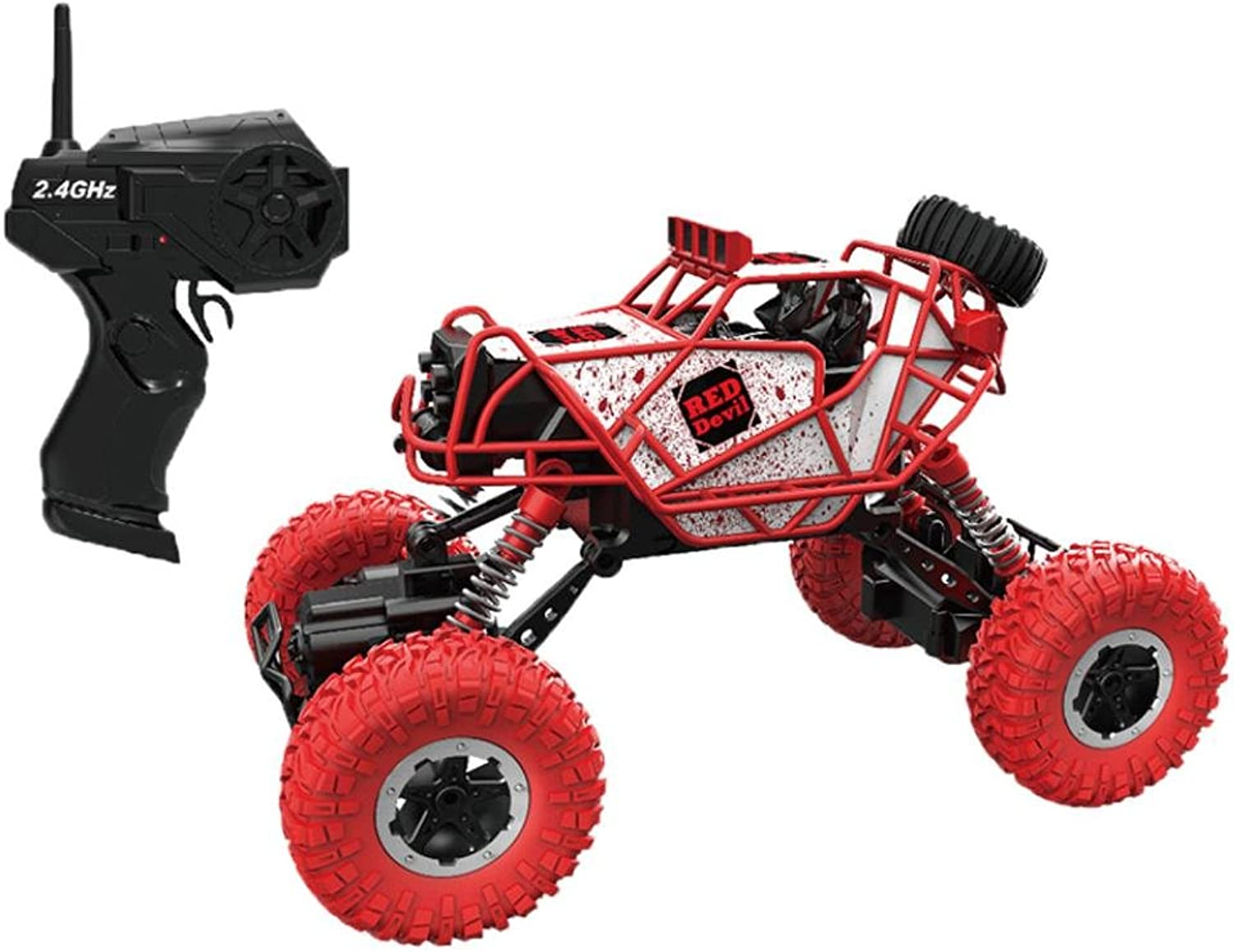 RC Cars 0ff Road,SolarLight 1 43 2.4Ghz USB Rechargeable High Speed Off Road Mini Remote Control Climbing Car (red)