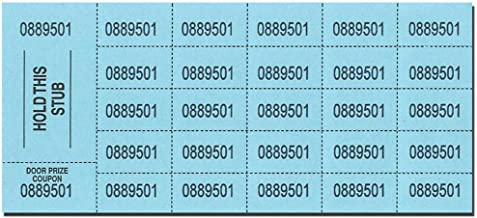 Auction Tickets - 500 Sheets - BLUE