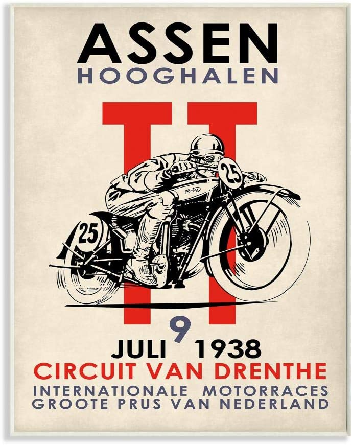 Stupell Industries mart Vintage Racing Motorcycl Circuit Sport Poster San Jose Mall