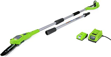 Greenworks 8.3' 24V Cordless Pole Saw, 2.0 AH Battery Included 20352