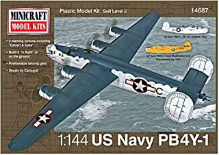 Minicraft PB4Y-1 USN with 2 Marking Options Model Kit, 1/144 Scale