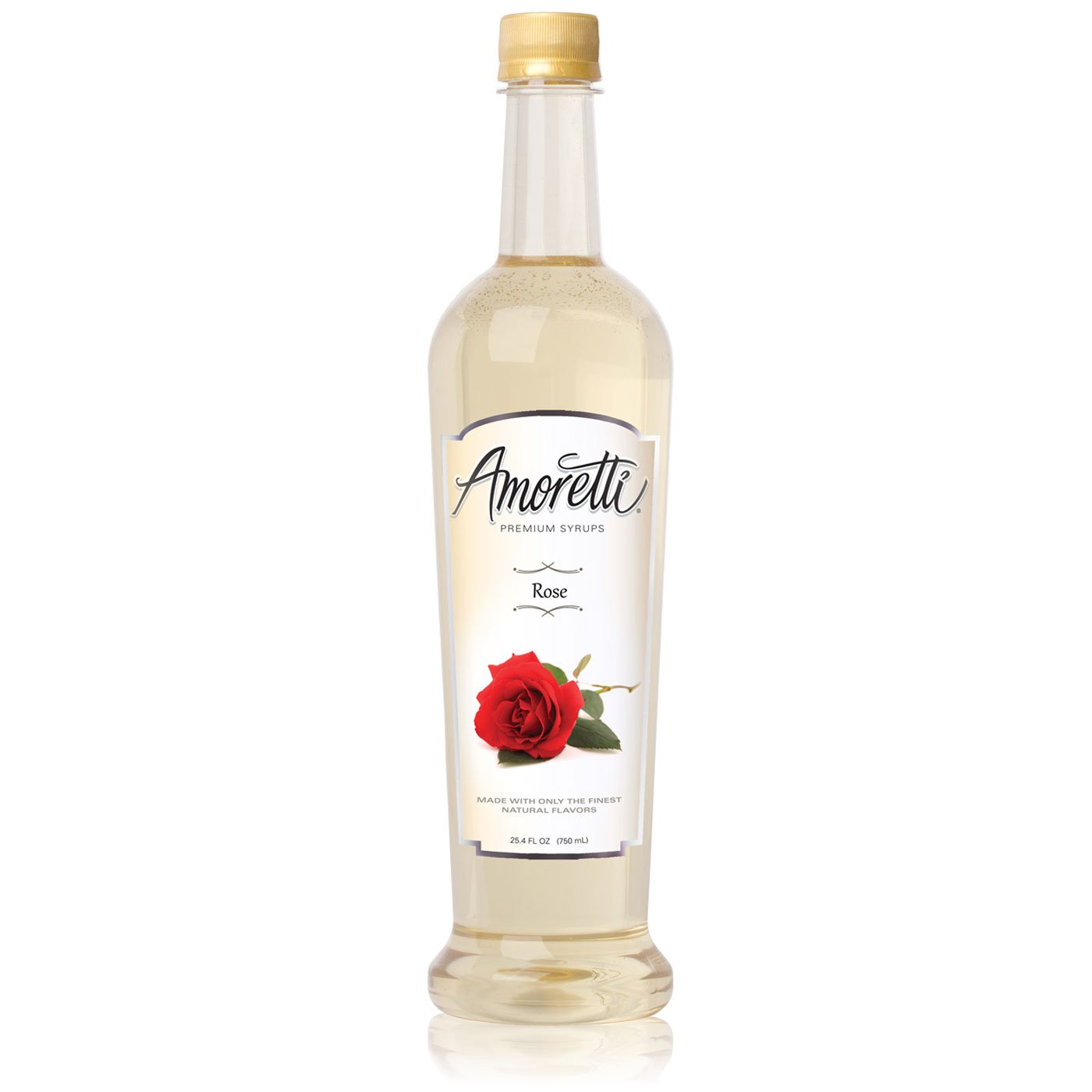 Large special Courier shipping free shipping price Amoretti Premium Rose 750mL Syrup