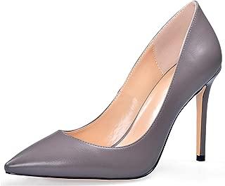 YODEKS Women's Pointed Toe Classic Pumps 100mm Stiletto Heel Shoes Dress Pumps