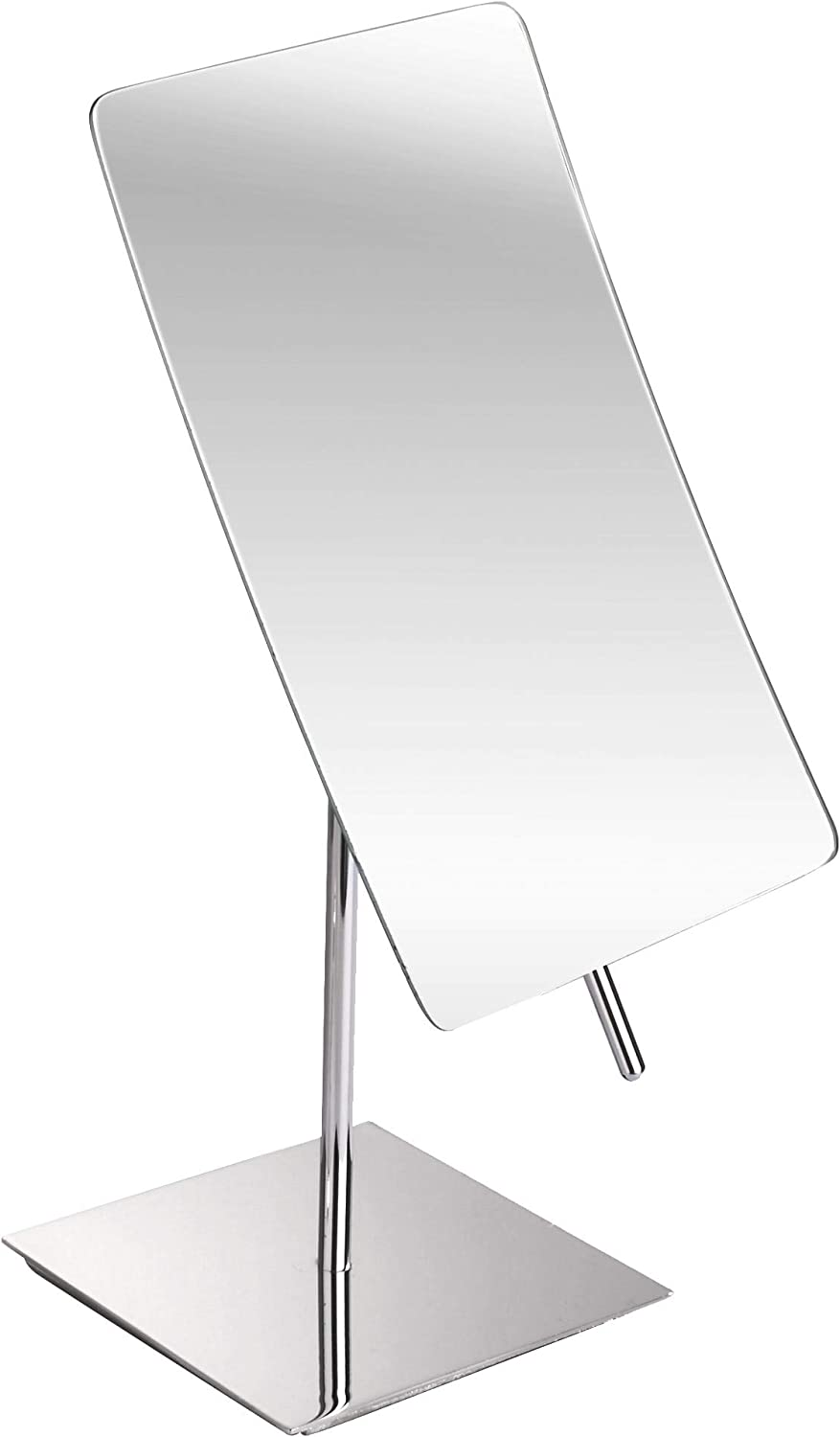 5X Magnified Premium Modern Rectangle Vanity Makeup Mirror 100% Guarantee   Portable Polished Chrome Contemporary Finish   Adjustable Easy Positioning   Best Luxury Quality Magnifying Beauty Mirror