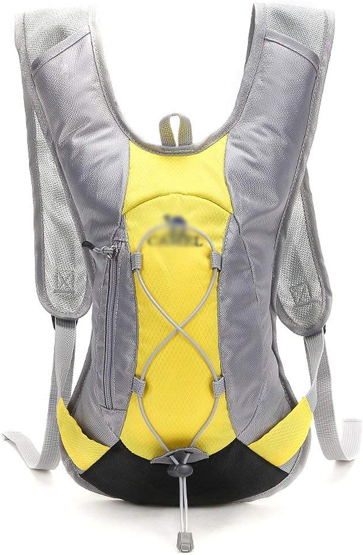 Lounayy Wasserbeutel Outdoor Rucksack Riding Rucksack Stylisch Camping Mode Wandern 2L Unisex Paket Radfahren Wasserbeutel Einfach Mit Ihnen Reiten (Farbe   Gelb, Größe   One Größe)