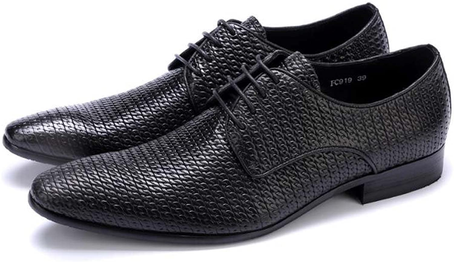 Men's Dress shoes Lace shoes Atmospheric Wedding shoes Fashion Atmosphere Have 37 Yards