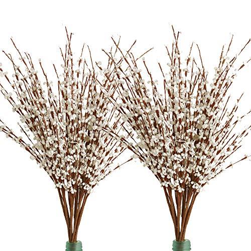 """Famibay Jasmin Künstliche Blumen 20 Stücke 29.5\"""" Langer Jasmin Gefälschte Pflanzen für Die Hochzeit Hof Zuhause Dekoration(Weiß)"""