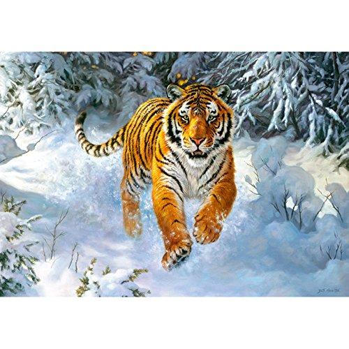 alles-meine.de GmbH Puzzle 500 Teile -  Siberian Emperor  - Sibirischer Tiger im Schnee - Sibirien Russland Landschaft - Raubkatze Katze Schneelandschaft - Baum Bäume schneebed..
