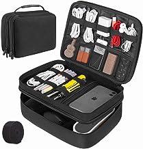 CottBelle Organisateur électronique Sac Accessoires Boîte de Rangement Sac de Rangement Gadget Organisateur Étui Double Co...