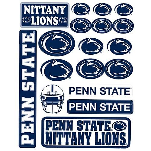 Penn State Nittany Lions Vinyl Cling Stickers 18 Removeable Decals NCAA Licensed