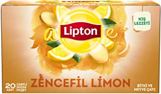 Lipton Zencefil Ve Limon Bardak Poşet Bitki Çayı 20'Li