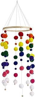 Campana Colgante de cuna,Juguetes Colgantes Cama Bell, Móvil Campana de Cama de Madera,para Cuna decoración del hogar (Multicolour)