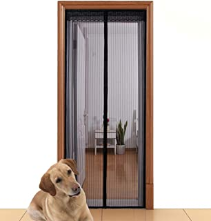 """Aloudy Magnetic Screen Door Fits Doors Up to 36"""" x 98"""" MAX, Full Frame Velrco Instant Mesh Curtain, Hands Free Bugs Off Do..."""