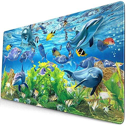 Abstract 3D vissen aquarium achtergrond muismat muismat anti-slip rubber duurzaam