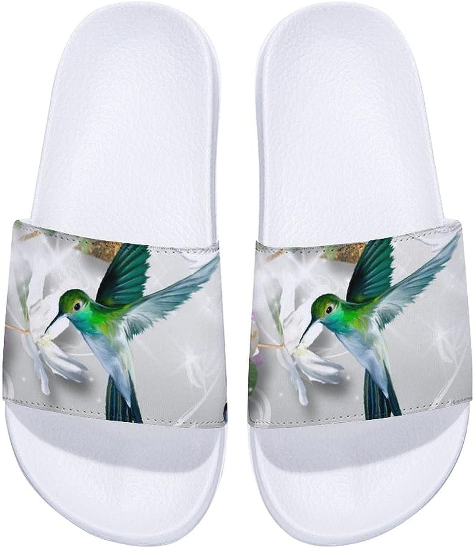Bird Flowers Spring Butterflies Men's and Women's Comfort Slide Sandals Indoor Outdoor