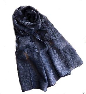 LadyMYP 66X194cm Reine Farbe aus Baumwolle und Leinen hohlen Schnittblumen Spitze Schals Stola mehrere Farbe zur Wahl