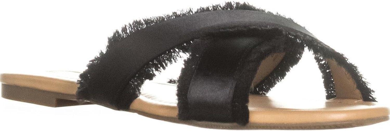 INC International Concepts I35 Gracine Slide Sandals - Black