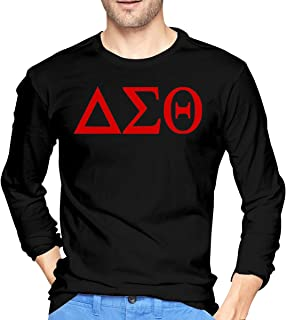 WenZo Delta Sigma Theta Cool Men's Long Sleeve T-Shirts Black