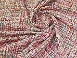 Minerva Crafts Chanel Tweed Beschichtungsstoff, rosa,