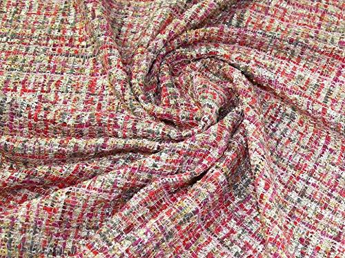 Minerva Crafts Chanel Tweed Überzug, Meterware, Pink