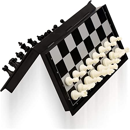 APS Craft Sheesham Wooden Magnetic Folding Chess Board