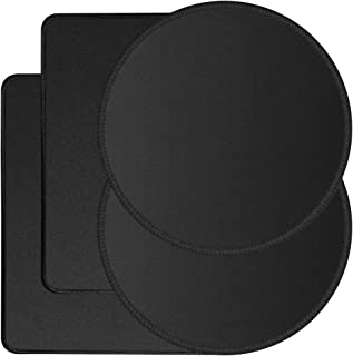4 Pack Stitched Edges Premium Mouse Pad, SourceTon Computer Mouse Pad with Non-Slip Rubber Base, Rectangle and Round Non-S...