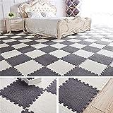 Ineinandergreifende Schaumstoff Mats - Fuzzy Plüsch Bereich Teppich Puzzle Play Matte Teppich...