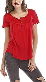 0094bf23930 UMIPUBO Bluas de Mujer Camisa Algodón Blusa Mujer Elegante Manga Corta  Camisa Suelta Mujer Casual Verano