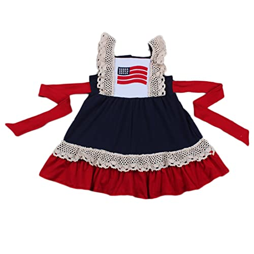 d57fbeab621 Yawoo Haan Little Girls Summer Embroidery Boutique Dress with Belt