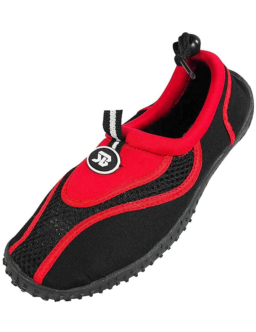 StarBay - Womens Water Shoe Aqua Sock, Red 37358-9B(M)US