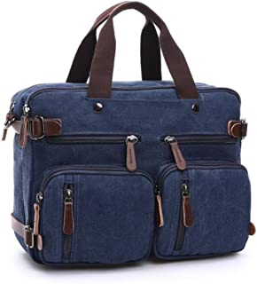 XibeiTrade Multifunktions Canvas Umhängetasche Segeltuch Reisetasche Handgepäck Herren Duffel Handtasche DUNKELBLAU