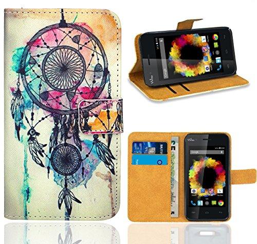FoneExpert® Wiko Sunset Handy Tasche, Wallet Hülle Flip Cover Hüllen Etui Ledertasche Lederhülle Premium Schutzhülle für Wiko Sunset