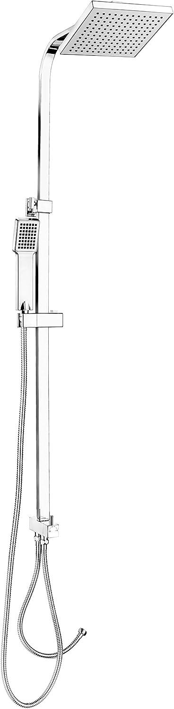 Cornat Duschsystem SQUARE eckig, chrom   Rainshower   Brausensystem   Wellnessdusche   Duschset   Duscharmatur   TECBW3316