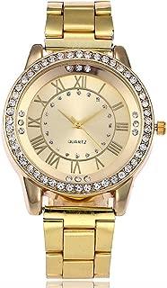 Triskye Women Analog Quartz Watches Classic Luxury Business Casual Stainless Steel Strap Band Marble Wrist Watch Ladies Wristwatch Bracelet for Teen Girls Children