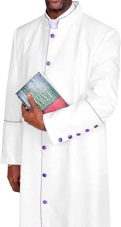 MENZ Clergy Robe Cassock Vestment for Pastor