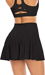 Pleated Tennis Skirts for Women with Pockets Shorts...